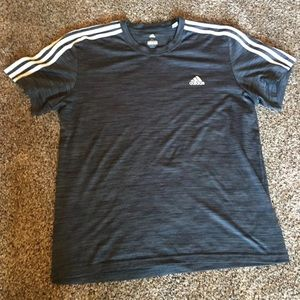 Grey adidas shirt in size men's XL